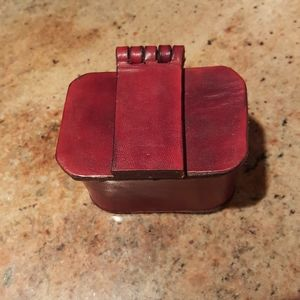 Burgundy leather accessory holder